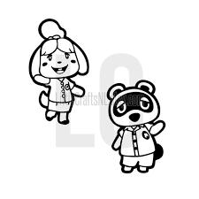Isabelle Tom Nook Animal Crossing Vinyl Decal Sticker Etsy