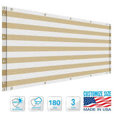 customizable 180gsm deck privacy screen