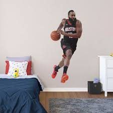 James Harden Houston Rockets Fathead Life Size Removable Wall Decal