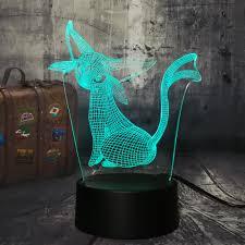 Novelty Lovely Pokemon Go Game Espeon Christmas 3D Small LED Kawaii Kid  lamp LED Night Light 7Color Gradient Desk Lamp Baby Toy|LED Night Lights