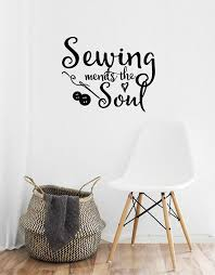 Sewing Mends The Soul Saying Vinyl Wall Decals Quote Art Decor Craft Room For Sale Online Ebay