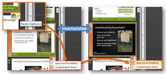 inserted slide in powerpoint