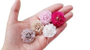 make easy small fabric roses mini