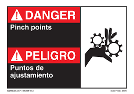 Osha Danger Sign Danger Pinch Points Bilingual Spanish Vinyl Decal Protect Your Business Walmart Com Walmart Com
