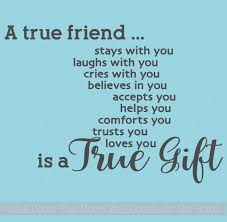 A True Friend Is A Gift Vinyl Wall Letters Decal Stickers