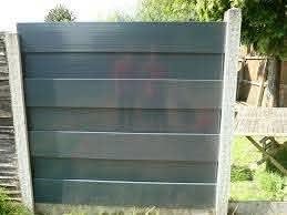 Anthracite Grey Upvc Plastic Fence Panels
