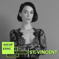 "St. Vincent, Betty Who, Charlotte Caffey, Jojo, Priscilla Renea And A Dozen  More Hitmakers Added To 2018 ASCAP ""I Create Music"" Expo Lineup; May 7-9 At  The Loews Hollywood Hotel 