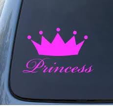 Amazon Com Princess Queen Crown Tiara Car Truck Notebook Vinyl Decal Sticker 1041 Vinyl Color Pink Automotive