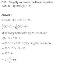 class 8 maths linear equation