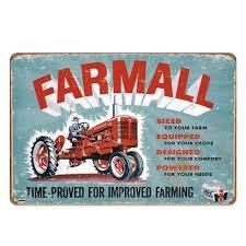 farm tractor metal sign tin sign plaque