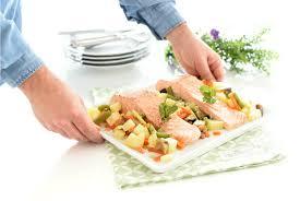salmón al con verduras