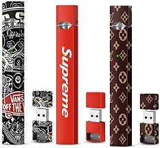 Juul Skin Wrap Vinyl Decal Sticker 3 Pack Lv Supreme Vans Of The Wall Amazon Co Uk Electronics