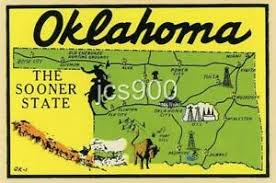 Vintage Oklahoma Sooner State Map Souvenir Travel Water Window Suitcase Decal Ebay