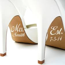 Married Name And Date Wedding Shoe Decals Home Decor Wall Decals