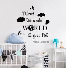 Quotes Wall Decals Plane Wall Stickers Clouds Wall Decal Baby Etsy