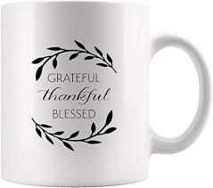 com grateful thankful blessed inspirational coffee mug
