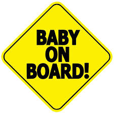 Amazon Com Baby On Board Baby Safety Sign Car Sticker 5 X 5 Automotive