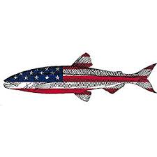 Trout Fish Usa Flag Sticker Decal Fishing Bumper Sticker Fish Patriotic United Auto Decal Car Truck