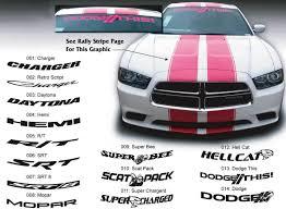 Dodge Charger Hellcat Mopar Hemi Srt Super Bee Windshield Decal Sticker Graphics Fits To Models 11