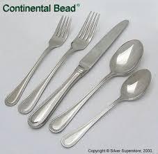 wallace imperial bead flatware modern