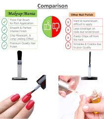 makeup mania nail polish set on indian