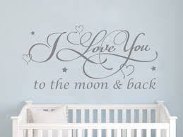 Add This I Love You To The Moon Back Wall Sticker To Your Nursey