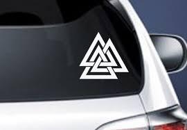 Valknut Vinyl Car Decal Pagan Odin Asatru Norse Viking Sticker Wish