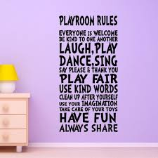 Kids Wall Decal Playroom Rules Decor Art Sign For Childs Childrens Kids Kid Girls Boys Room Playroom Rules Kids Wall Decals Kids Playroom