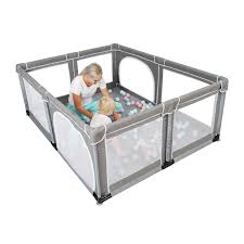 Yobest Baby Playpen Extra Large Playpen For Toddlers Indoor Outdoor Kids Activity Center With Gate