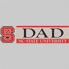 North Carolina State Wolfpack Die Cut Decal Strip Dad