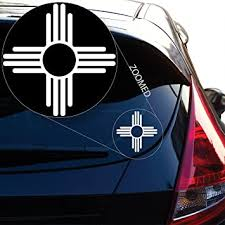 Amazon Com Yoonek Graphics New Mexico Flag Logo Decal Sticker For Car Window Laptop And More 573 4 X 4 White Automotive