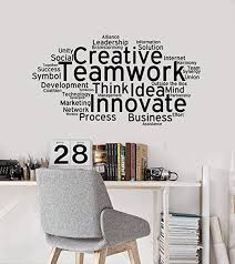 Amazon Com Creative Teamwork Vinyl Wall Decal Team Work Office Art Decor Stickers Mural And Stick Wall Decals Home Kitchen