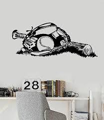 Vinyl Wall Decal Baseball Glove Ball Bat Boy Room Sports Stickers Ig4771 Ebay
