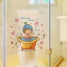 Buy Cute Cartoon Sticker Wall Stickers Bathroom Bathroom Glass Sliding Door Shower Bath Villain Dormitory Bedroom Decor In Cheap Price On M Alibaba Com