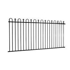 Protector Aluminium 2450 X 1200mm Custom Loop And Spear Top Pool Fence Panel