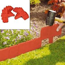 20pcs plastic garden edging border
