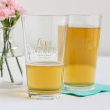 personalized pint glass favors beau coup