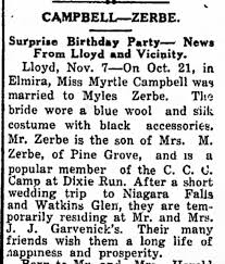 Myrtle Campbell & Myles Zerbe wedding announced - Newspapers.com