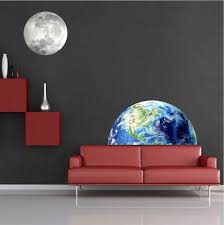 Half Earth Wall Mural Decal Space Wall Decal Murals Space Wall Decals Wall Appliques Wall Mural Decals