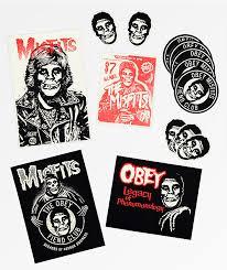 Obey X Misfits Sticker Pack Zumiez