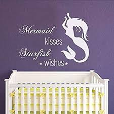 Mermaid Kisses Starfish Wishes Vinyl Wall Decal Sticker For Walls Cars Laptops Home Garden Decor Decals Stickers Vinyl Art