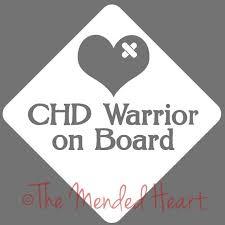 Vinyl Chd Warrior Car Window Decal Chd Chd Awareness Chd Etsy