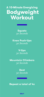 10 minute workout 10 quick total body