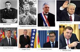 Image result for pavelic, draza, milosevic, tudjman, karadzic, boban. vucic, dodik, covic fotos