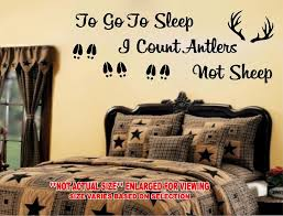 To Go To Sleep I Count Antlers Not Sheep Wall Decal Sticker Bed Country Usa Set 2 97 Picclick