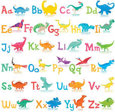 Amazon Com Decowall Dw 1803 A Z Dinosaur Alphabet Kids Wall Stickers Wall Decals Peel And Stick Removable Wall Stickers For Kids Nursery Bedroom Living Room Decor Kitchen Dining