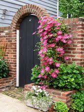 Clematis Brick Wall Gardens Brick Garden Garden Gate Design