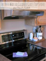 how to clean a glass top stove t