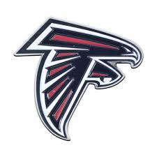 Fanmats Nfl Atlanta Falcons 3d Molded Full Color Metal Emblem 22530 The Home Depot