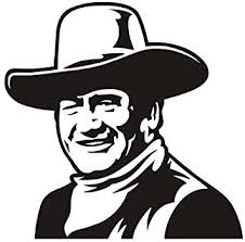 Amazon Com John Wayne V4 Decal Sticker Peel And Stick Sticker Graphic Auto Wall Laptop Cell Truck Sticker For Windows Cars Trucks Automotive